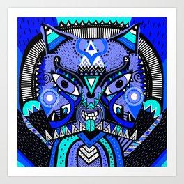 LISHKA BLUE Art Print