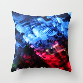 Blue & Red Abstract Throw Pillow