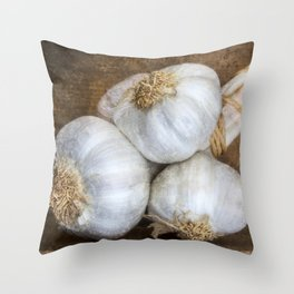 Garlic Bulbs Throw Pillow