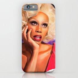 Rupaul Dragrace in Red iPhone Case