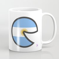 argentina Mugs featuring Argentina Smile by onejyoo