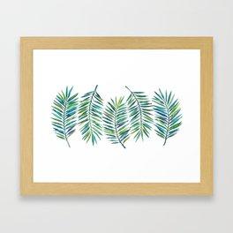 Palm Leaves Framed Art Print