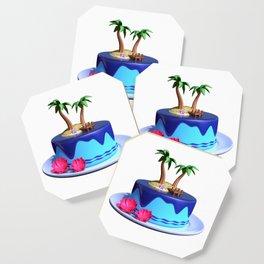 Tropical cute cake Coaster