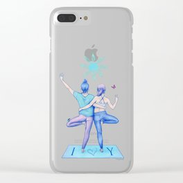 Yogi Love cold colours Clear iPhone Case
