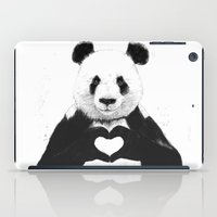 panda iPad Cases featuring All you need is love by Balazs Solti