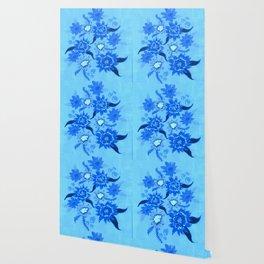 Crystal Blue Violets Wallpaper
