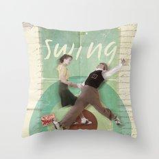 Swing Dance Throw Pillow