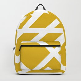 Brutalist Blueprint (Yellow) Backpack