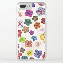 Floral art mille fiori Clear iPhone Case