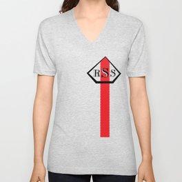 Red Striped Shirt Unisex V-Neck