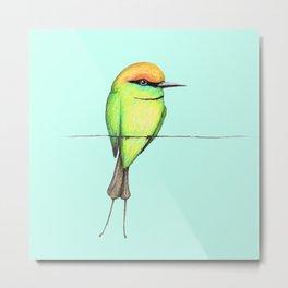 Green bee eater Metal Print