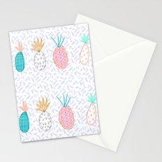 Pineapple. Illustration, print, pattern, fruit, design, fun, Stationery Cards