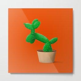 Cactus dog Metal Print