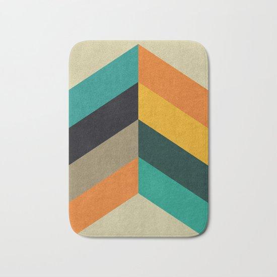 Minimalist and colorful chevron Bath Mat