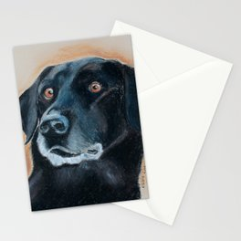 Nutter. A black lab Stationery Cards