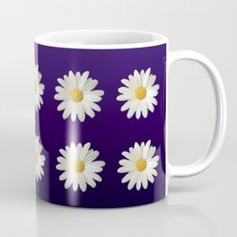 Daisies (blue-purple background) Coffee Mug