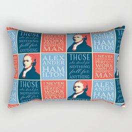 Alexander Hamilton Quotes Rectangular Pillow