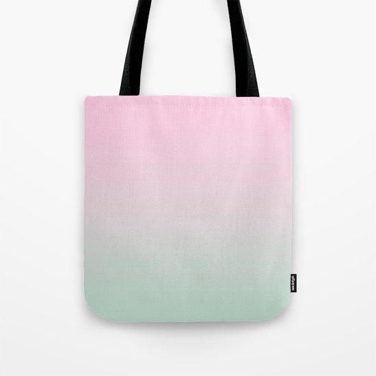 Keelee - ombre pastels minimal canvas art painting sunset nursery baby room art Tote Bag
