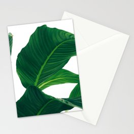 Green Leafs (Color) Stationery Cards
