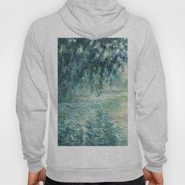 1898-Claude Monet-Morning on the Seine- 73 x 91 Hoody
