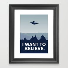 My I want to believe minimal poster-xfiles Framed Art Print