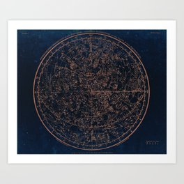 Constellations of the Northern Hemisphere Art Print