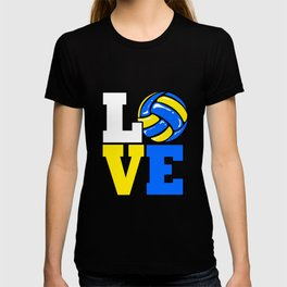 Volleyball Love Ball Sports Team Set Players T-shirt