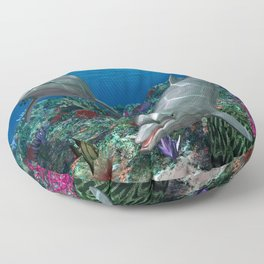 Dolphins Floor Pillow