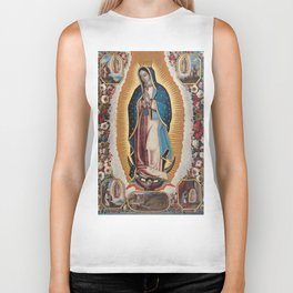Virgin of Guadalupe, 1720 by Antonio de Torres - Mexican Art Biker Tank