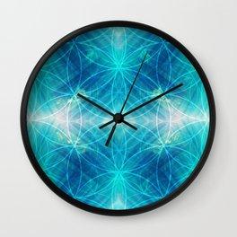 Hawaiian Oceanic Flower Of Life Wall Clock