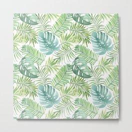 Tropical Branches Pattern 06 Metal Print