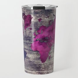 World map watercolor 7 Travel Mug