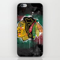 blackhawks iPhone & iPod Skins featuring chicago blackhawks hockey by abstract sports