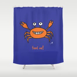 Mr and Mrs Cabby Amanya Design Blue Single FEED ME! Shower Curtain