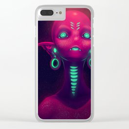 Beyond the Stars (#Drawlloween2016 Series) Clear iPhone Case