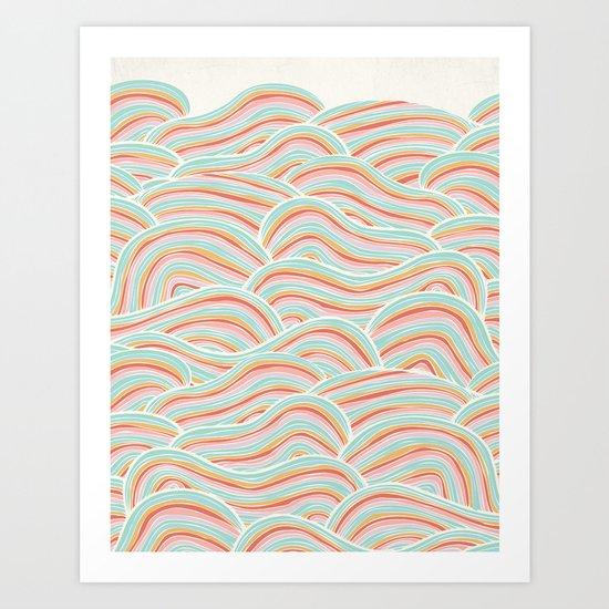 Summer Sea Waves Art Print