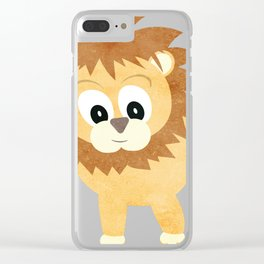 Baby Lion Cub Clear iPhone Case