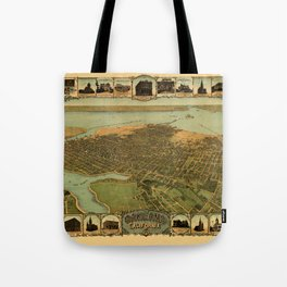 Map Of Oakland 1900 Tote Bag