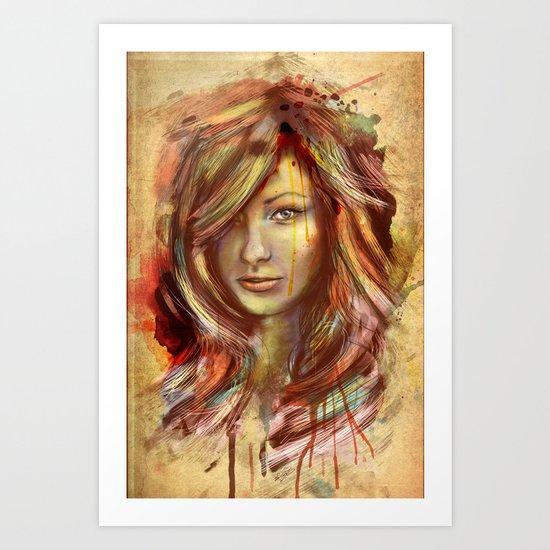 Olivia Wilde Digital Painting Portrait Art Print