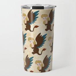 Sphinx Pattern Travel Mug