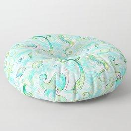 Mermaid Pattern 01 Floor Pillow