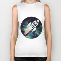 spaceship Biker Tanks featuring Spaceship by Cs025
