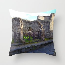 Pompeii Ancient Dwelling - 2 Throw Pillow