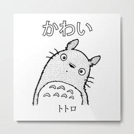 Kawaii Totorro Metal Print