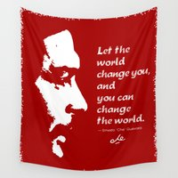 che Wall Tapestries featuring Che Change the World by Nery Orellana