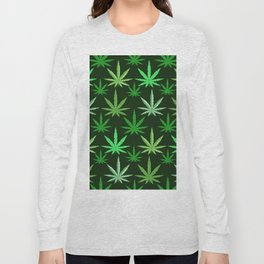 Marijuana Green Leaves Weed Long Sleeve T-shirt
