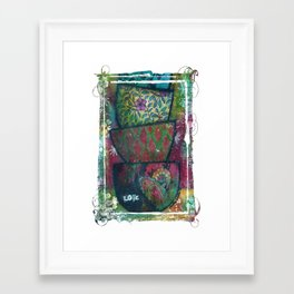 Cups of Love Framed Art Print