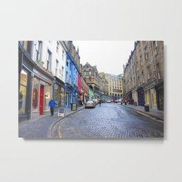 Victoria Street Edinburgh 3 Metal Print