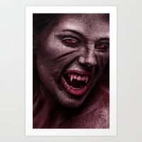 vampire Art Prints featuring vampire by Photoplace