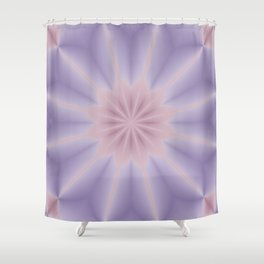 Pink and Lilac 3D Flower Three Shower Curtain